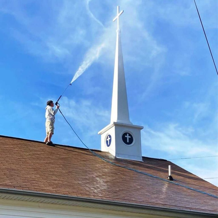 Cleaning-Church-Steeple