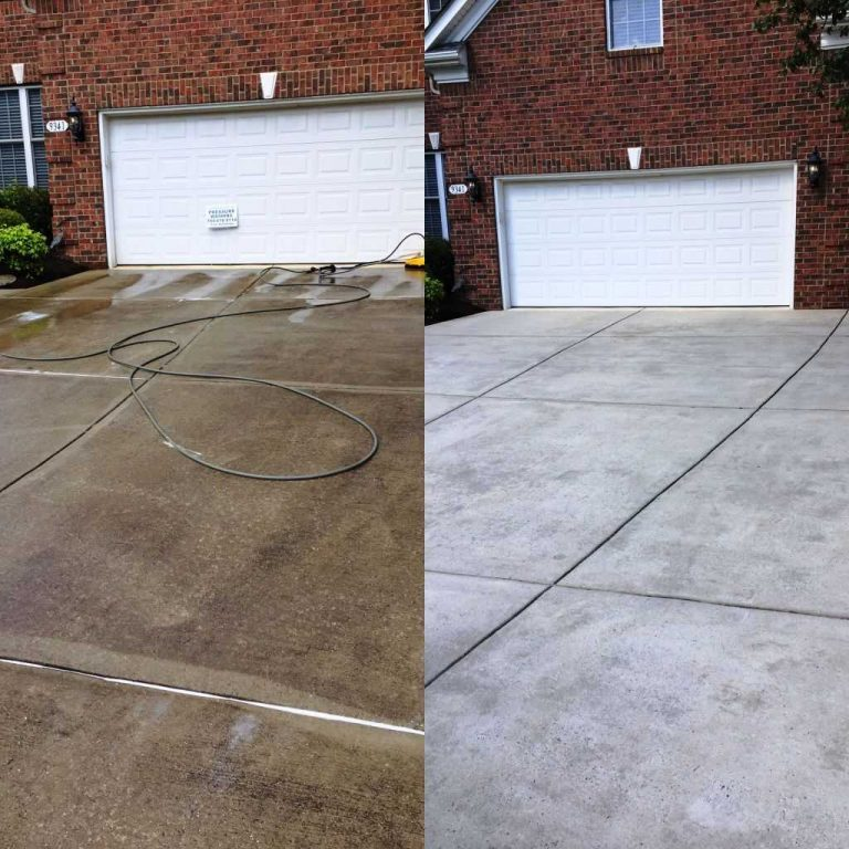 Concrete-pads-driveway-pressure-wash